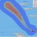 Tyfon besøg på Guam – Chan-hom