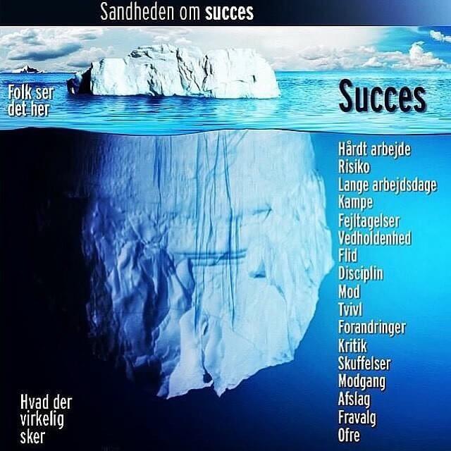 Succes - ærlig blog om livet