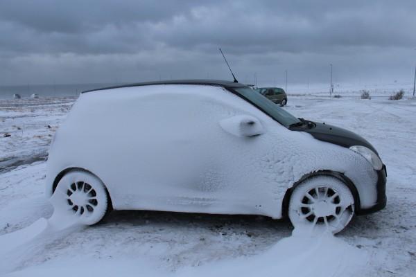 Snedækket bil - Island 2018