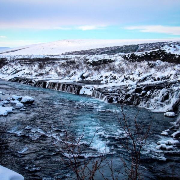 Hraunfossar vandfaldet - Island