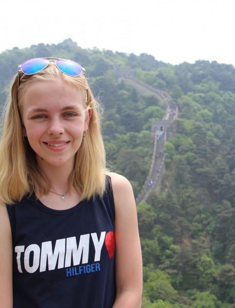 Laura paa den kinesiske mur